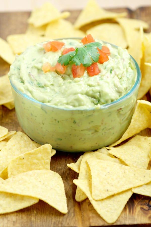 Creamy homemade guacamole