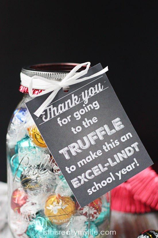 Lindt Truffles Teacher Appreciation Gift + Printable