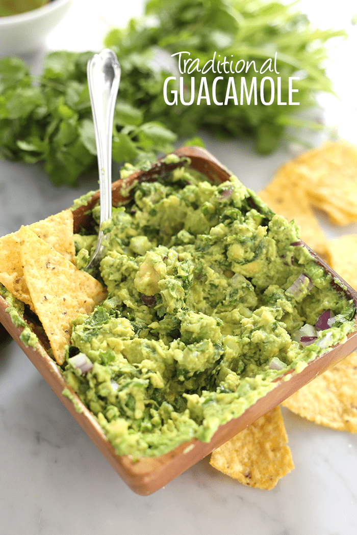 Traditional guacamole recipe