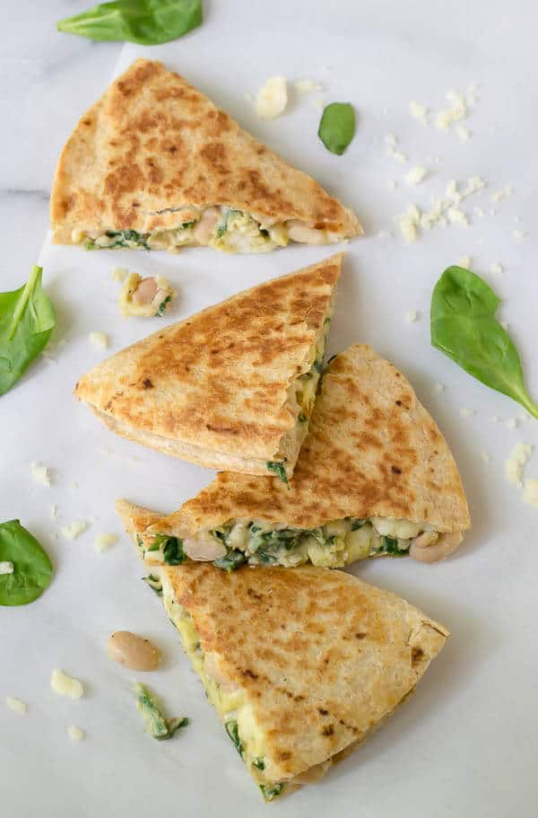 Make ahead breakfast quesadilla