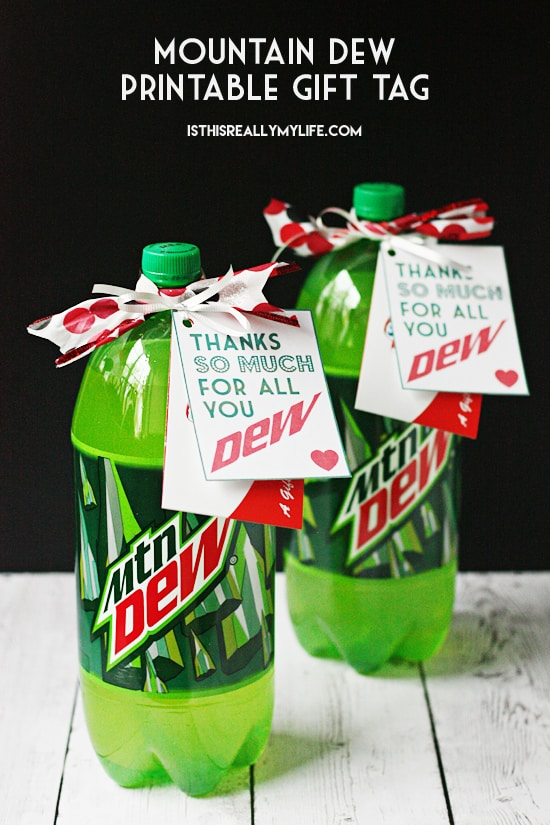 Mountain Dew Printable Gift Tag Half Scratched