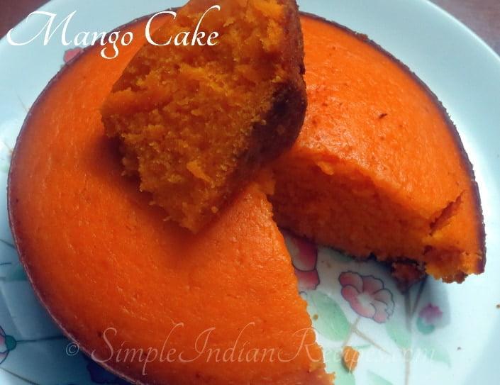 Pressure cooker mango cake