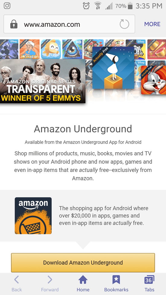 Amazon Underground app for Android screenshot