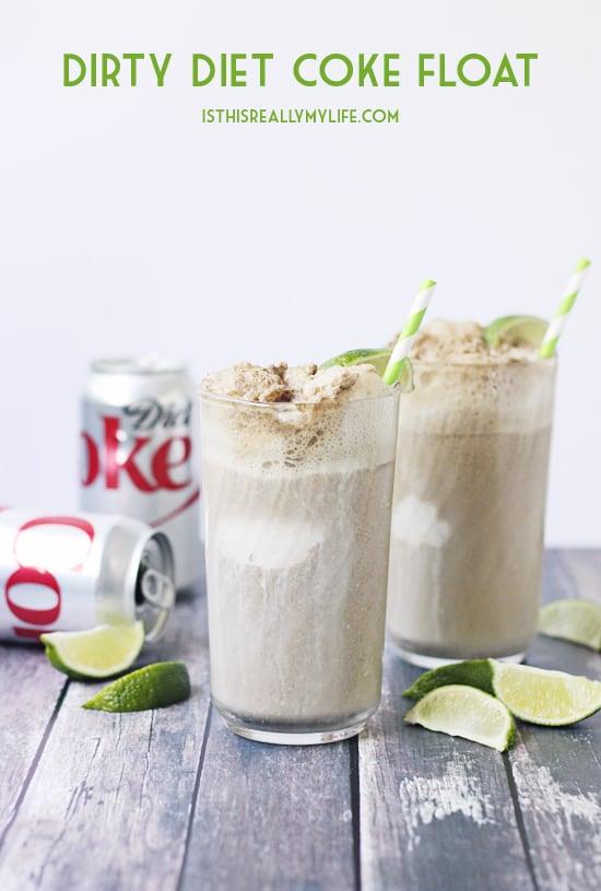 Dirty Diet Coke Float