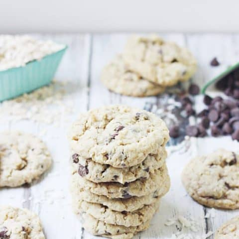 Large Batch Cowboy Cookies -- One of the best recipes for cowboy cookies I have tasted plus it makes just over 6 dozen cookies! Perfect for summer get-togethers and family parties. They freeze well so you can make them ahead and defrost the day of the party--no one will ever know!