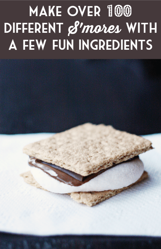 Make over 100 Different Smores with a Few Fun Ingredients -- offer guests a fun selection of fixings for the best smores party yet!