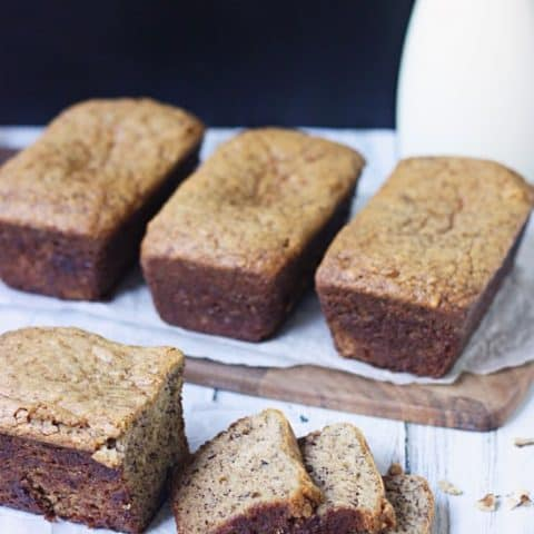Sour Cream Banana Bread -- the sour cream makes this the most divine banana bread you will ever bake. Freezes well and perfect for gift giving...and eating.