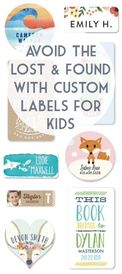 Avoid the Lost and Found with Custom Labels for Kids -- perfect for personalizing everything from clothing to water bottles.