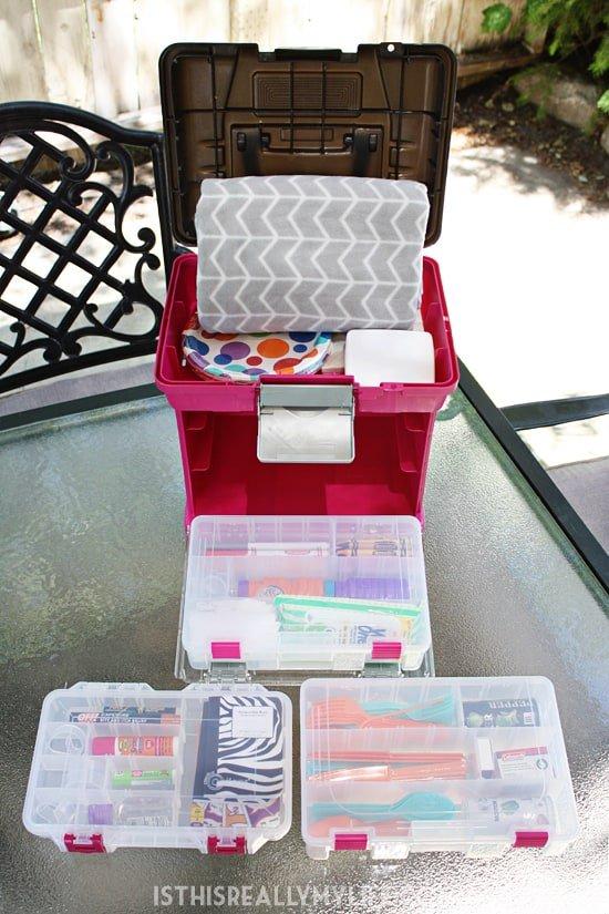A Genius Way To Organize Picnic Supplies Half Scratched