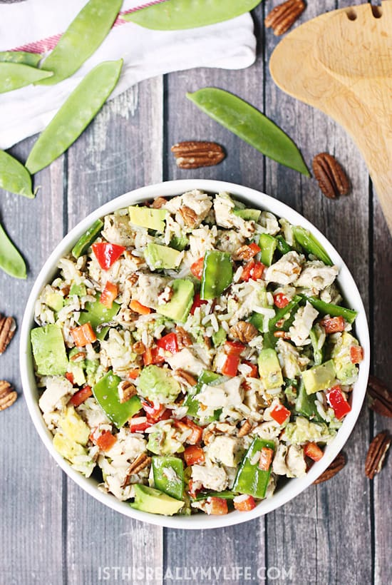 Wild Rice Salad with Avocado & Toasted Pecans