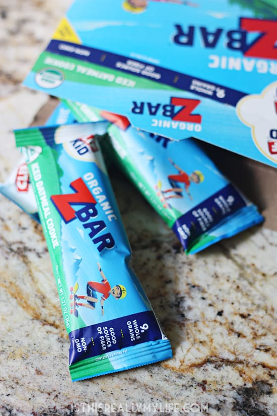 CLIF Kid ZBar Review -- My kids truly loved these baked whole grain bars from CLIF Kid. They are made with whole grains, organic ingredients and are a good source of fiber. Non-GMO and no high-fructose corn syrup to boot!