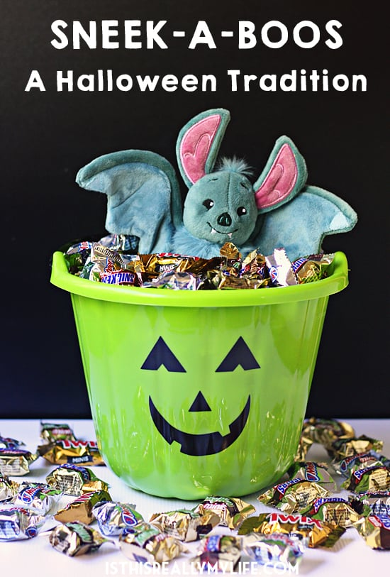 Sneek-A-Boos, with its adorable Boo the bat, is sure to sneak its way into your Halloween traditions this year. What will he bring, a trick or a treat?