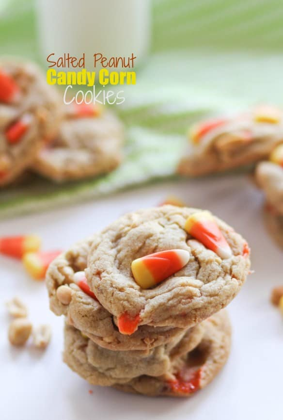 Salted peanut candy corn cookies
