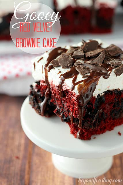 Red Velvet Brownie Base Vortex Cake