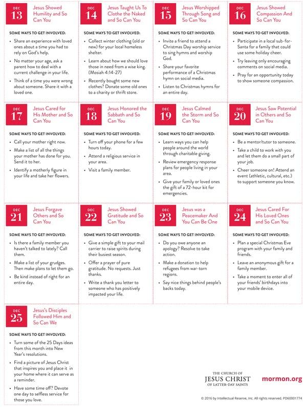 LIGHTtheWORLD campaign calendar page 2 #lighttheworld