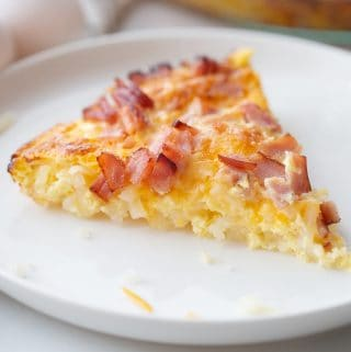 Hashbrown Breakfast Casserole - This hashbrown breakfast casserole is a family favorite. We make it during the holidays and love to whip it up for a quick weeknight meal! #breakfast #hashbrown #breakfastcasserole #casserole #breakfastrecipe #halfscratched #baking #holidayrecipe #holidaybreakfast #brunch