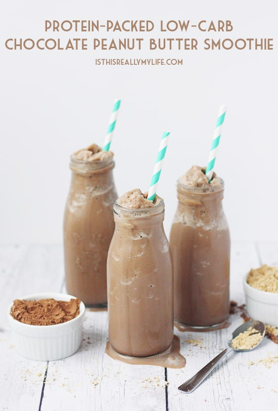Protein-Packed Low-Carb Chocolate Peanut Butter Smoothie