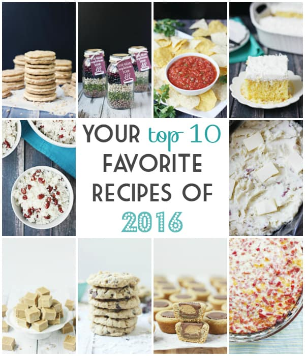 YOUR Top 10 Recipes of 2016 -- From Butterbeer sandwich cookies to coconut poke cake with homemade whipped cream frosting, here are your top 10 recipes from 2016.