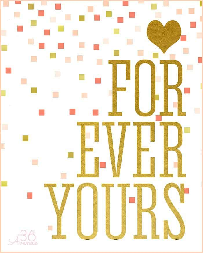For Ever Yours printable