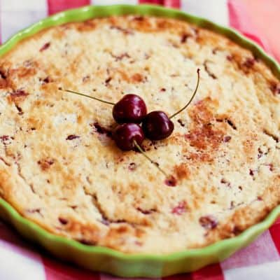 Tart cherry pressure cooker pie