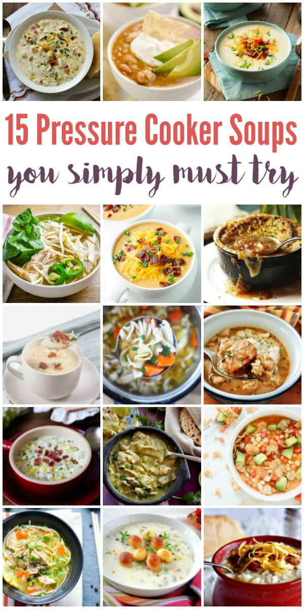 15 Pressure Cooker Soup Recipes - From pho to French onion soup, here are 15 pressure cooker soup recipes you simply must try! Your family and friends will thank you. Promise. | halfscratched.com