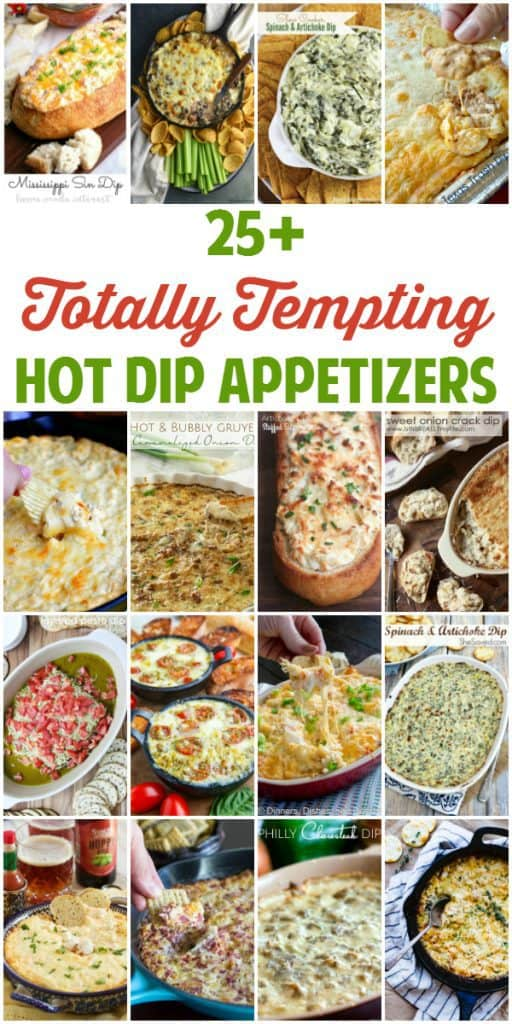 The Big Game is almost here! It is not too late to add one (or more) of these totally tempting hot dip appetizers to your game day menu. | halfscratched.com