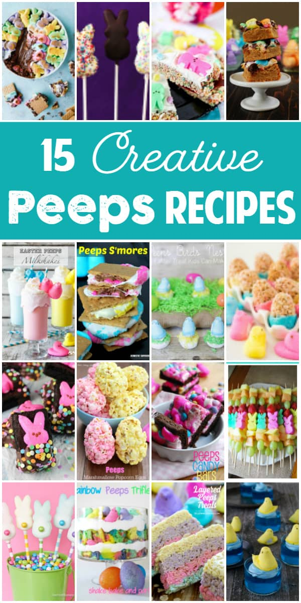 16 Creative Peeps Recipes -- While Peeps are yummy straight from the package, these Peeps recipes prove they can be even better dipped in chocolate, baked in a brownie and turned into trifle. | halfscratched.com