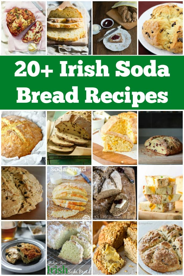 20+ Irish Soda Bread Recipes -- From classic Irish soda bread to variations like rosemary cheddar and apricot orange, these Irish soda bread recipes are perfect for St. Patricks Day! | halfscratched.com