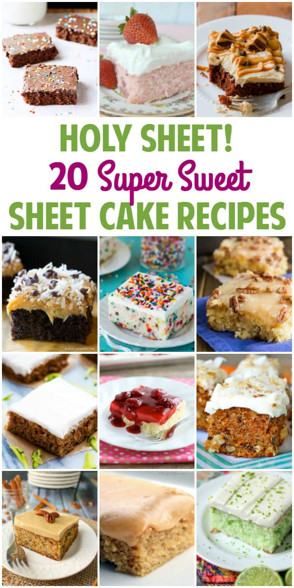 20 Super Sweet Sheet Cake Recipes - While classic Texas sheet cake is one of my (many) dessert weaknesses, I'm dying to try one of these other super sweet sheet cake recipes. Holy yum!   halfscratched.com
