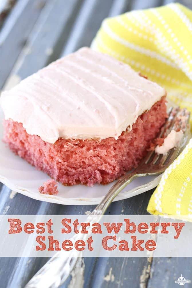 Best strawberry sheet cake recipe