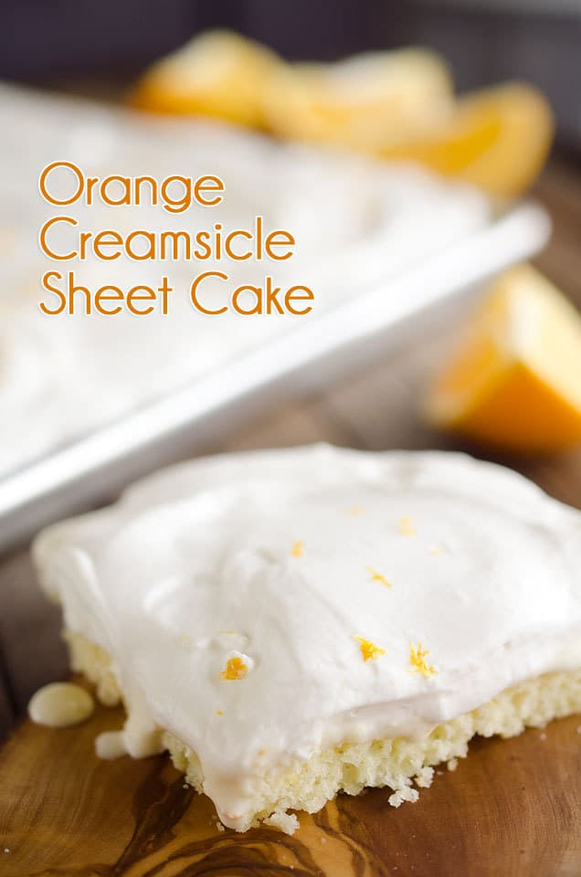 Orange creamsicle sheet cake