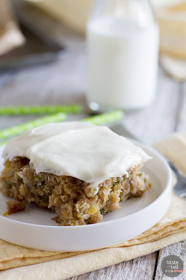 Zucchini Sheet Cake Cream Cheese Frosting