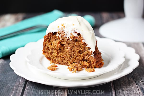 Carrot Cake Using A Box Spice Cake