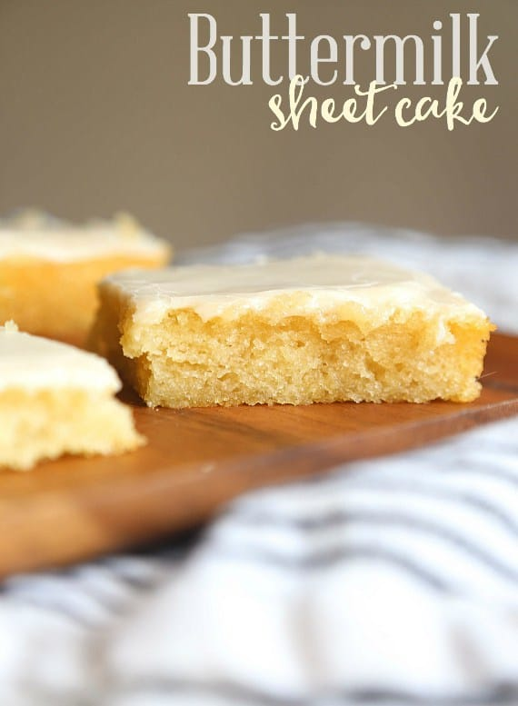 Buttermilk sheet cake recipe