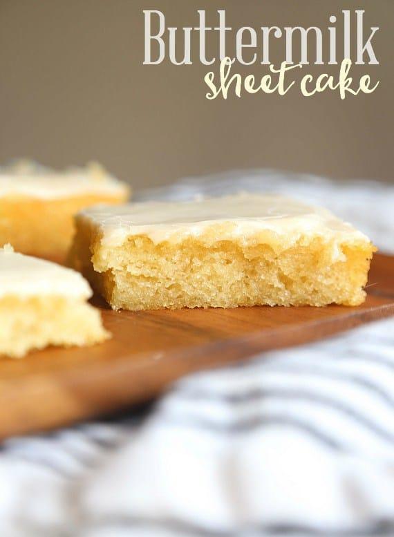 Buttermilk sheet cake recipe