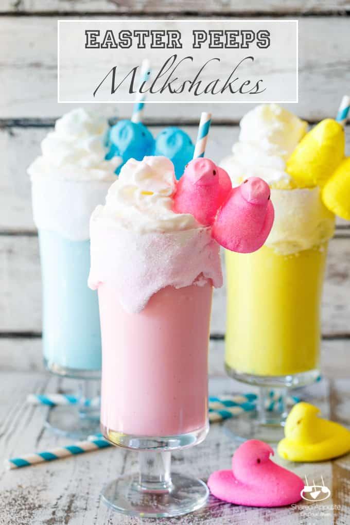 Toasted marshmallow Easter Peeps milkshake