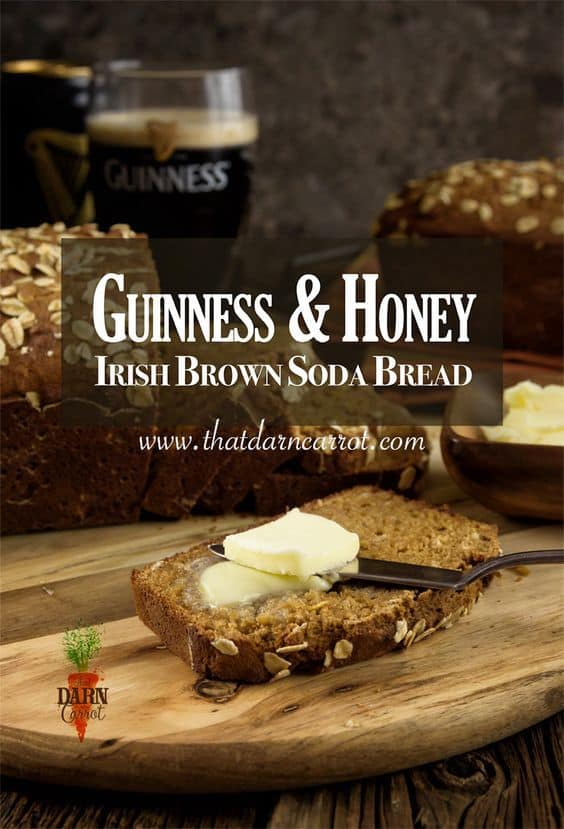 Guinness and Honey Irish brown soda bread