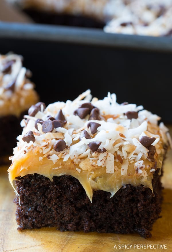 Samoas Texas sheet cake recipe