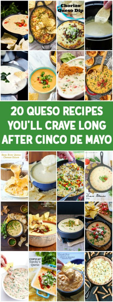 20 Queso Recipes You Will Crave Long After Cinco de Mayo - From queso blanco to loaded cowboy queso, these 20 queso recipes will have you wishing Cinco de Mayo was a weekly event! | halfscratched.com
