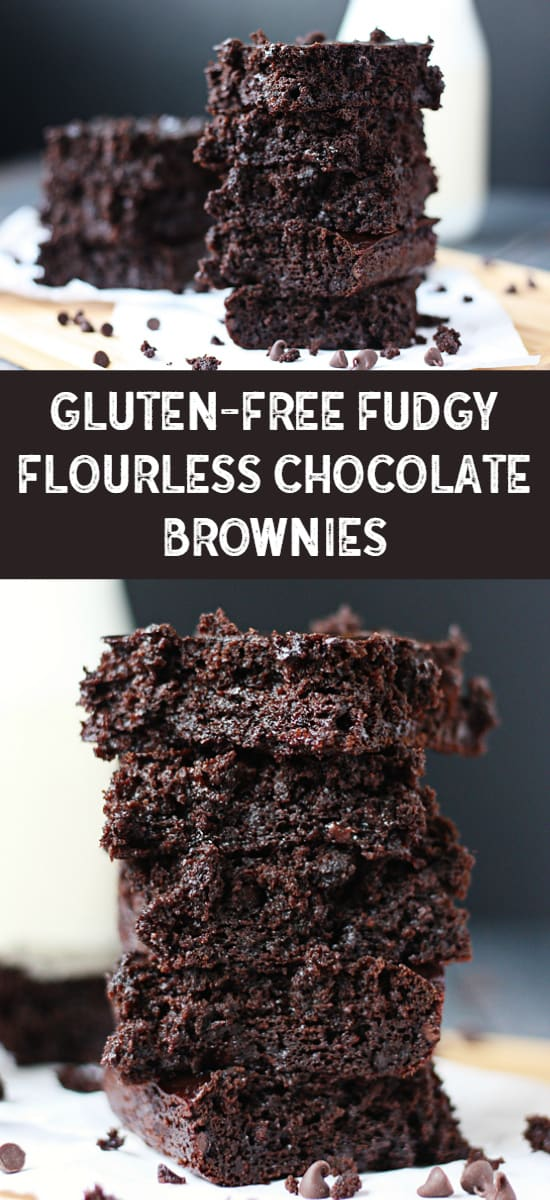 Gluten-Free Fudgy Flourless Chocolate Brownies -- These gluten-free fudgy flourless chocolate brownies are so rich and chocolaty, it is hard to believe they are less than 150 calories a serving! | halfscratched.com