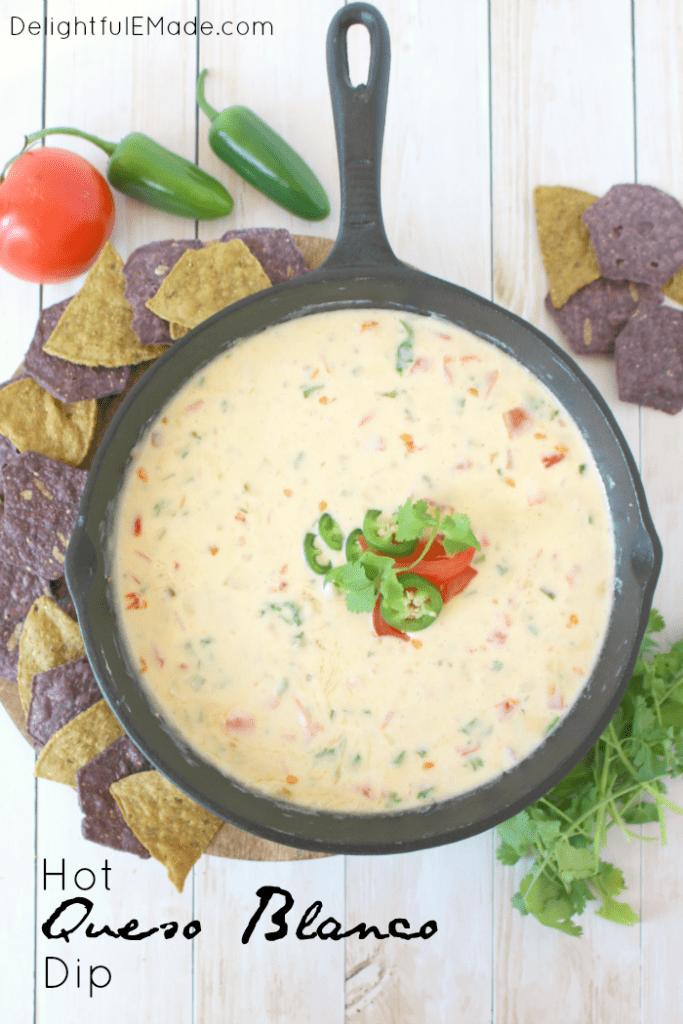 Hot queso blanco dip