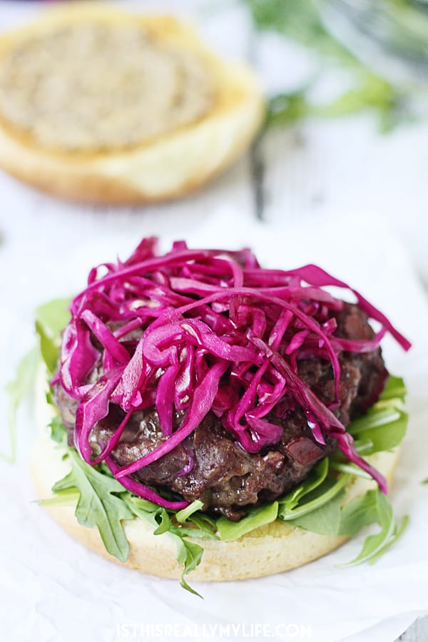 Corned Beef & Cheddar Burgers
