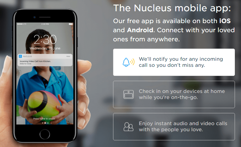 Nucelus mobile app