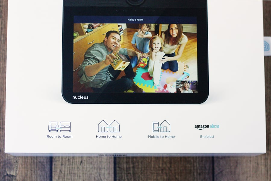"""Nucleus -- Nucleus is connecting families at home and across the country with its WiFi-enabled """"anywhere intercom,"""" free mobile app and good ol' Amazon Alexa. 