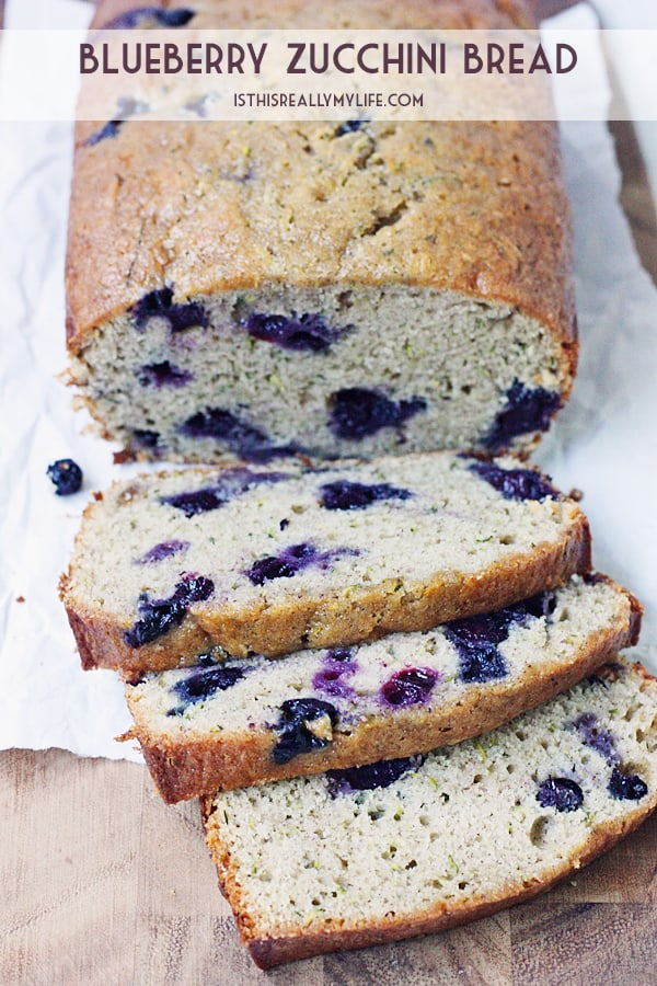 Blueberry Zucchini Bread -- Baking a batch of blueberry zucchini bread is one of the best ways to use all that fresh garden zucchini and sweet, summer-ripened blueberries. | halfscratched.com
