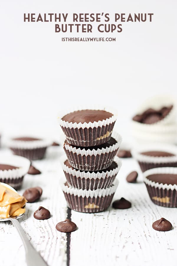 Healthy Reeses Peanut Butter Cups -- These healthy Reeses peanut butter cups do not taste healthy (thank heavens!) but they are packed with protein, antioxidants and healthy fats. | halfscratched.com