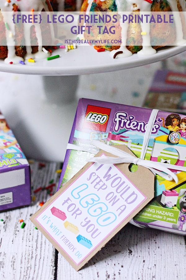 FREE LEGO Friends Printable Gift Tag -- Show the true meaning of friendship with this free LEGO printable gift tag. Attach to LEGO Friends sets, bags of loose LEGOs or a pair of minifigures! | halfscratched.com #lego #printable #ad