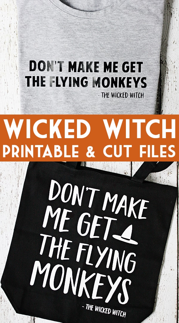 Wicked Witch Flying Monkeys Free Halloween Printable + Cut Files -- These Wizard of Oz-inspired Wicked Witch Halloween printable and cut files add a wickedly humorous touch to your Halloween decor. | halfscratched.com