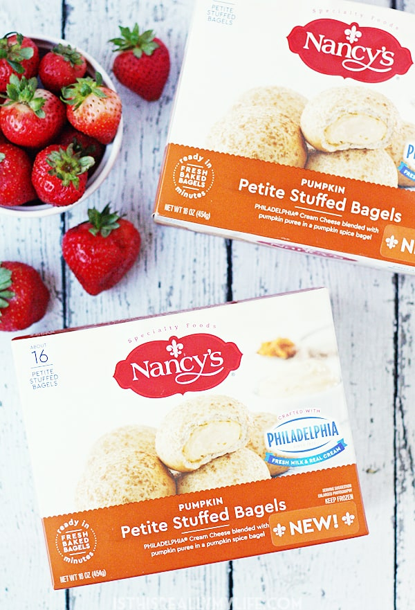 Nancys Pumpkin Petite Stuffed Bagels