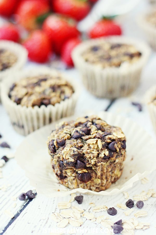 Oatmeal Chocolate Chip Protein Muffins